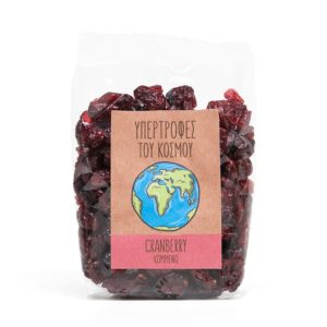 Υπερτροφές του Κόσμου - Κομμένο Cranberry 160γρ