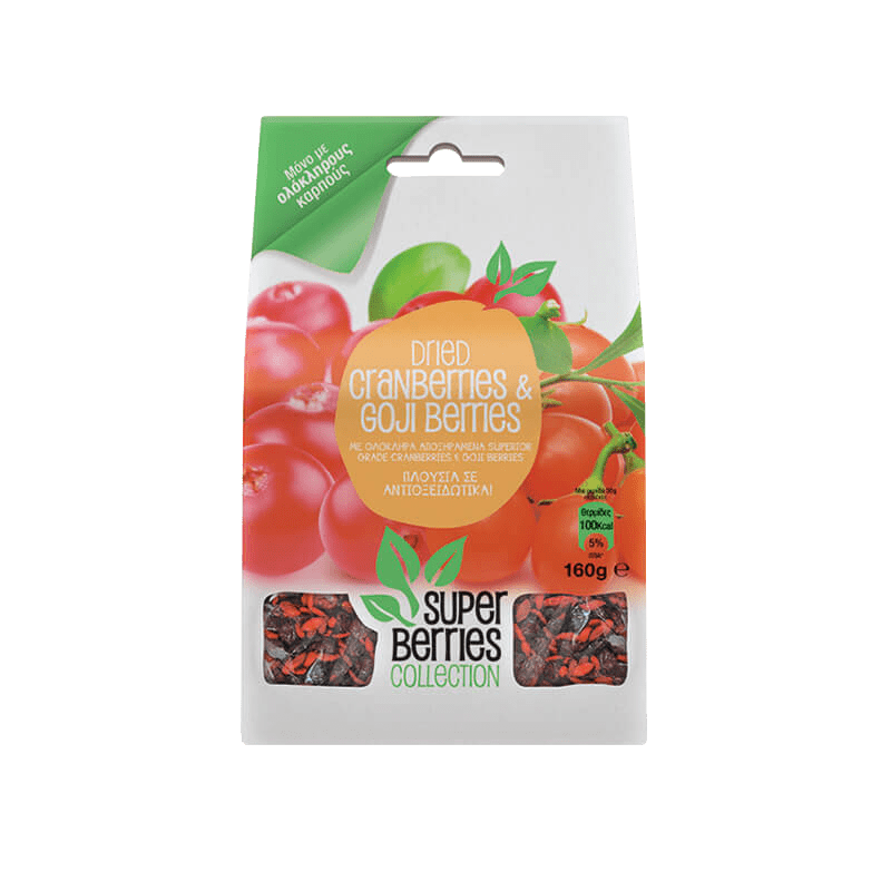 Super Berries Collection Cranberries & Goji Berries 160γρ