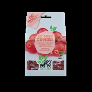 Super Berries Collection Juice Infused Cranberries 180gr (χωρίς προσθήκη ζάχαρης)