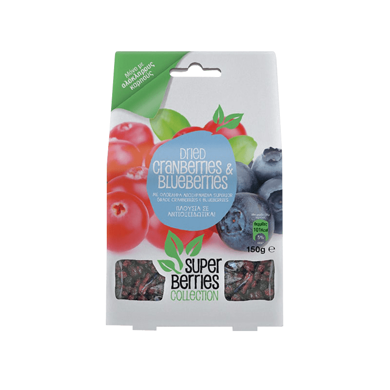Super Berries Collection Cranberries & Blueberries 150γρ